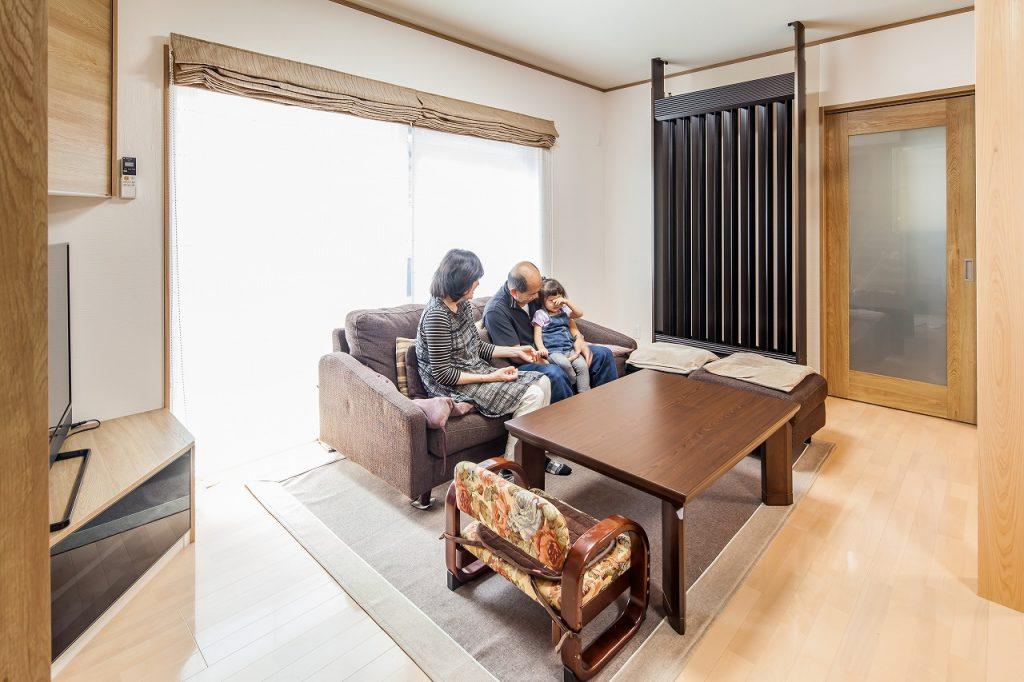 羽島市で建てた注文住宅のリビング