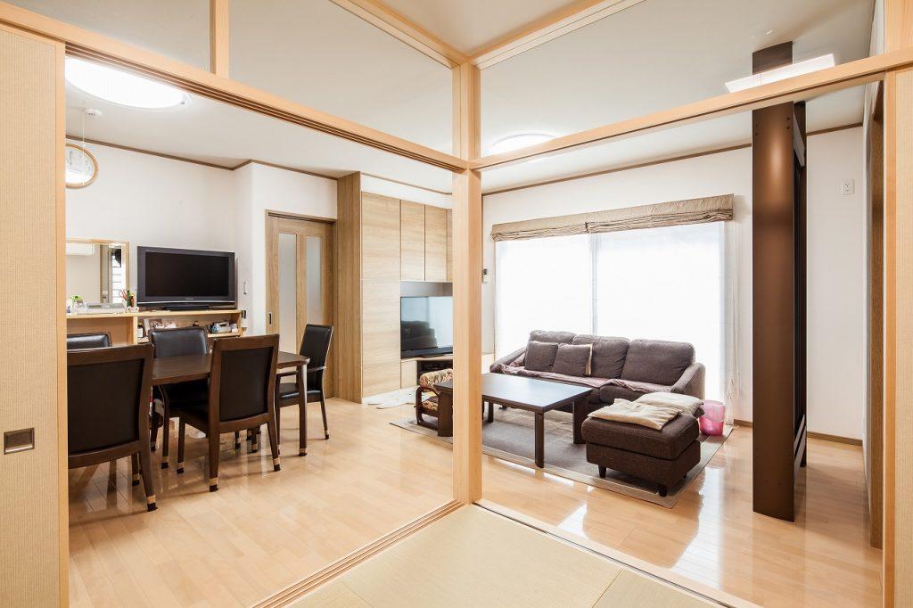 羽島市で建てた注文住宅のリビングダイニング