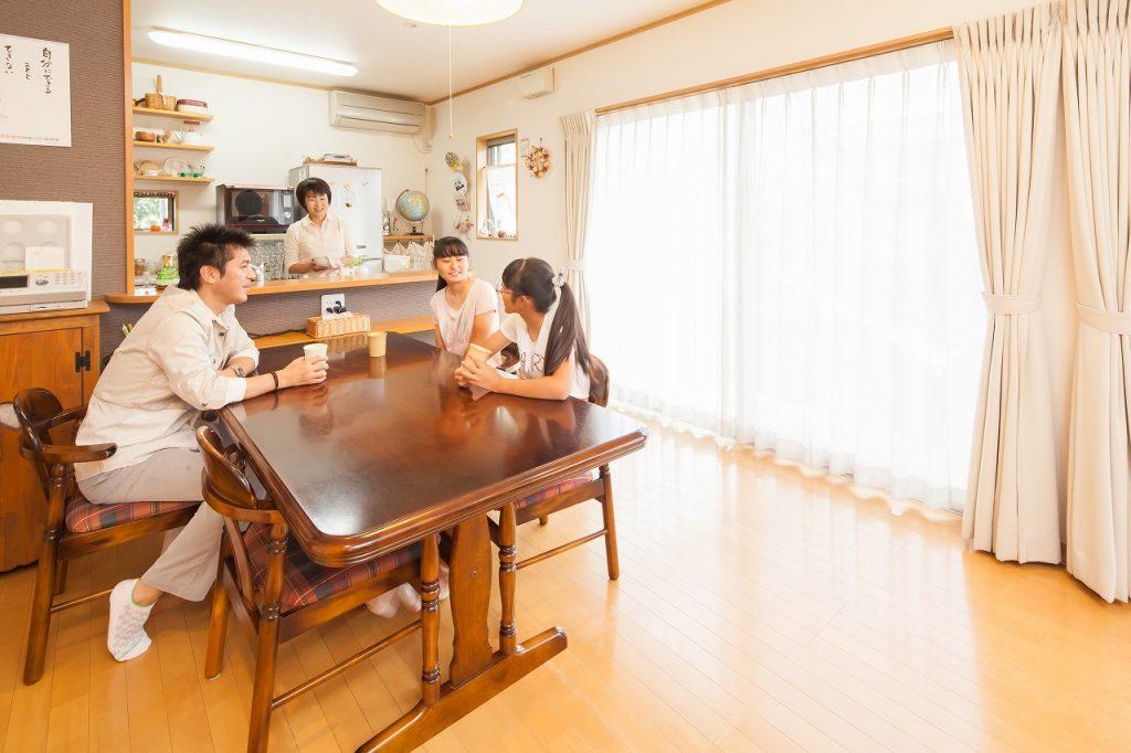 岐阜で建てた注文住宅のダイニングキッチン