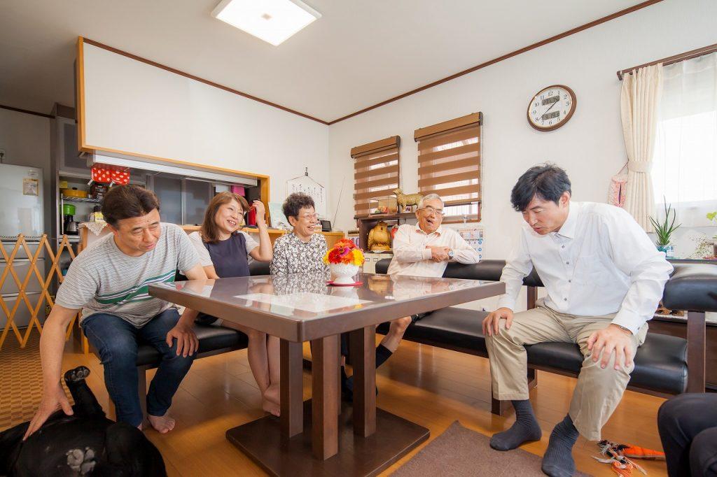 岐阜で建てた注文住宅のリビング