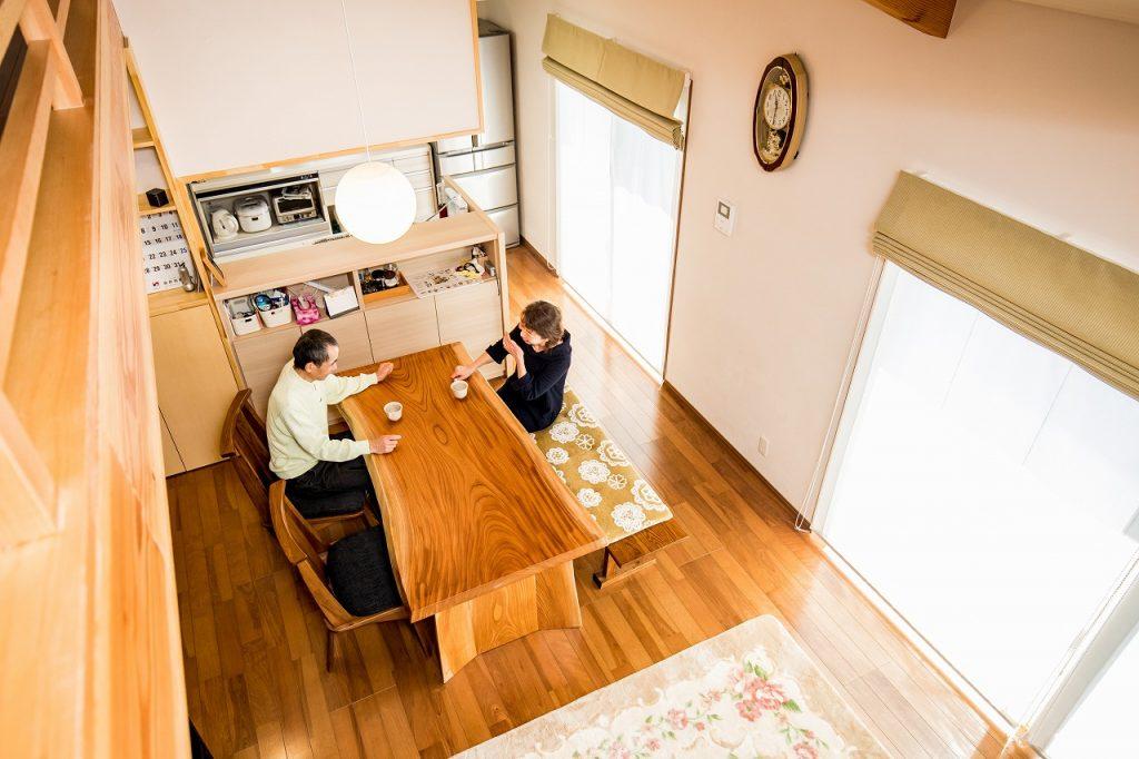 羽島市で建てた注文住宅のダイニング