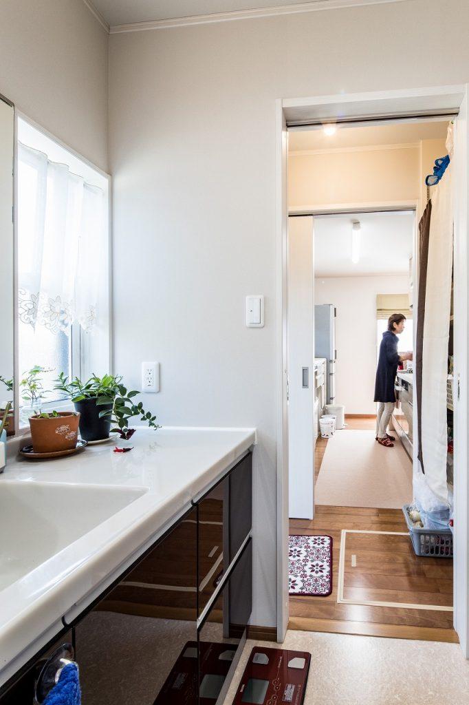 羽島市で建てた注文住宅の洗面脱衣室