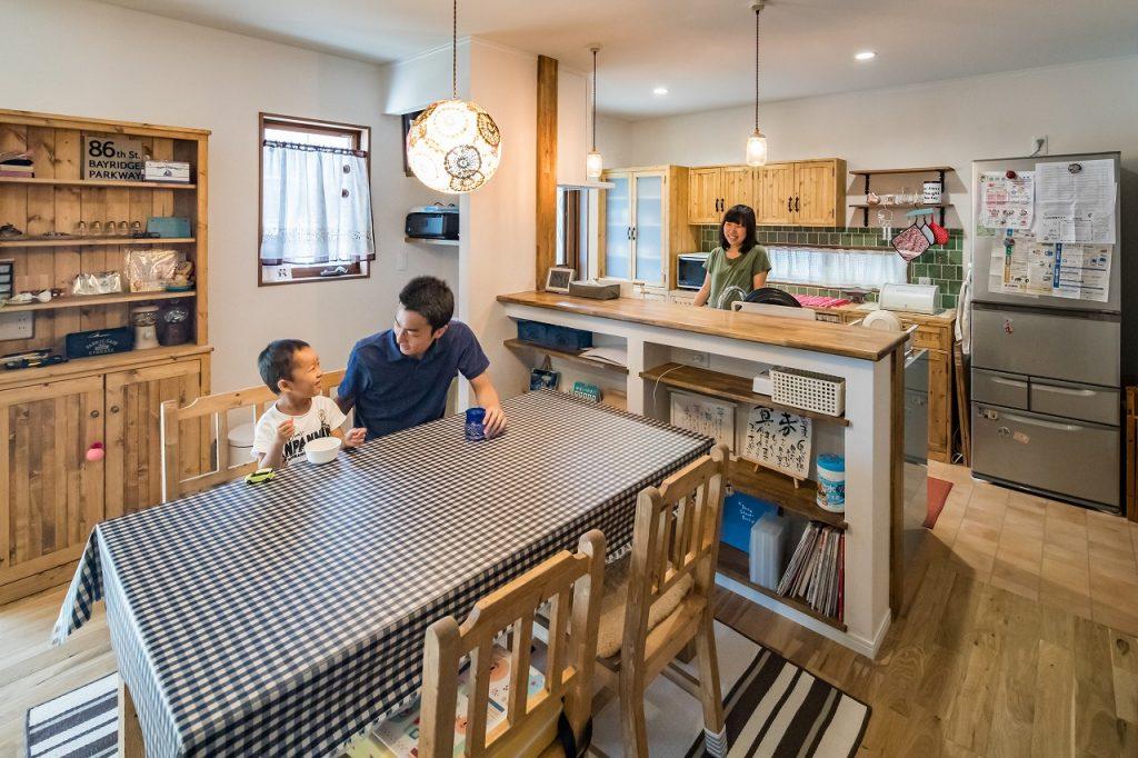 大垣市で建てた注文住宅のダイニングキッチン