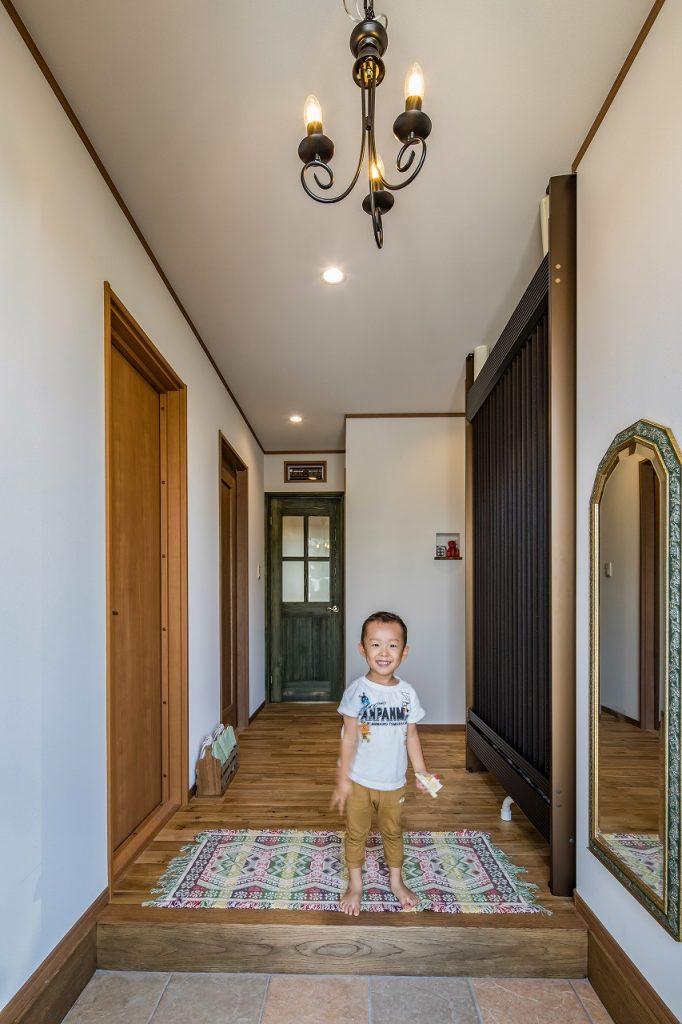 大垣市で建てた注文住宅の玄関