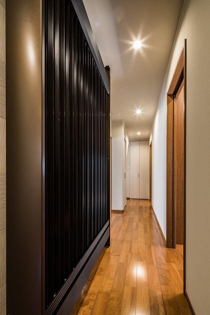 羽島市で建てた注文住宅の廊下