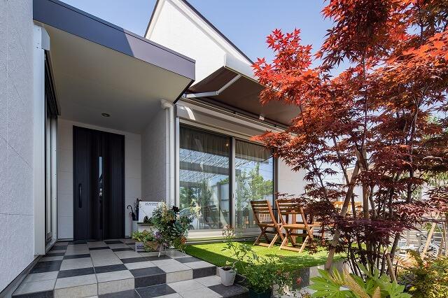 羽島市で建てた注文住宅の庭