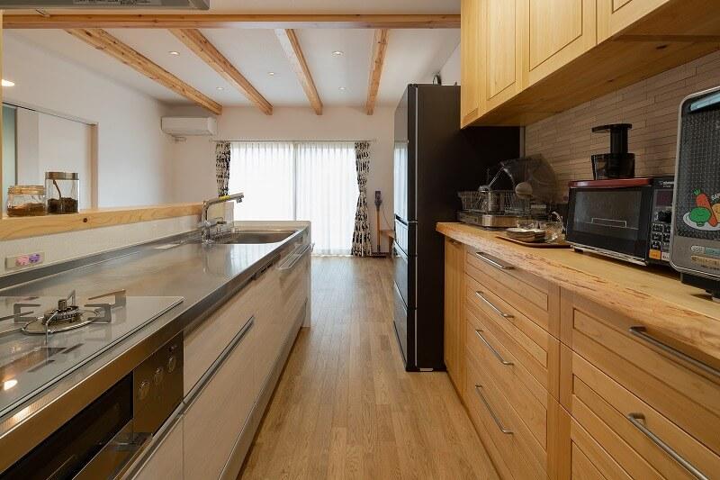 羽島市で建てた注文住宅のキッチン