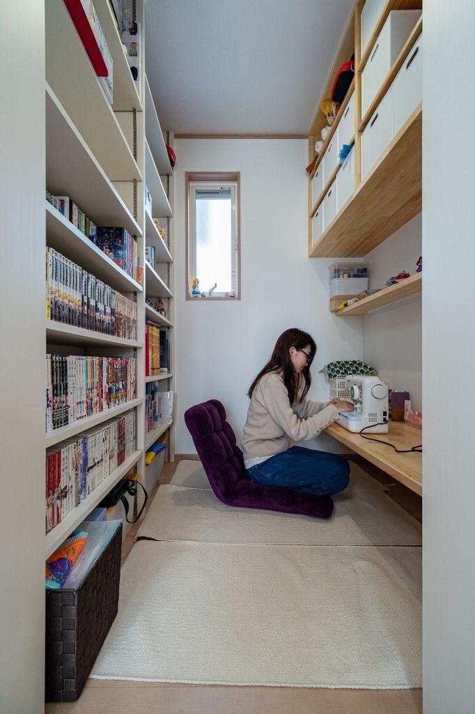 羽島市で建てた注文住宅の書斎スペース